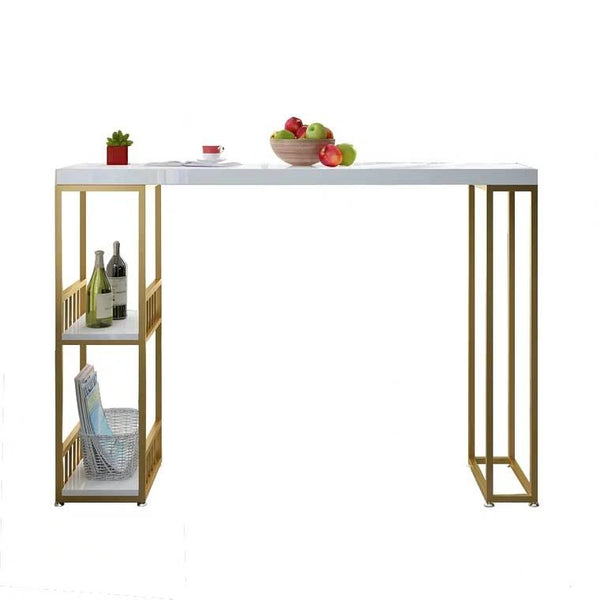 DIONNE Modern Industrial Solid Wood Bar Table