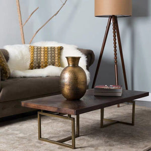 PORTER Herringbone Solid Wood Coffee Table