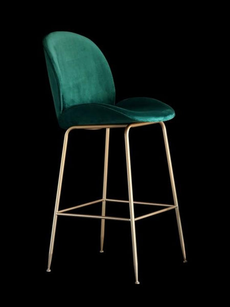 FELICE Velvet Beetle Bar Stool