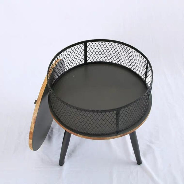 FELIX Industrial Mesh Round Side Table