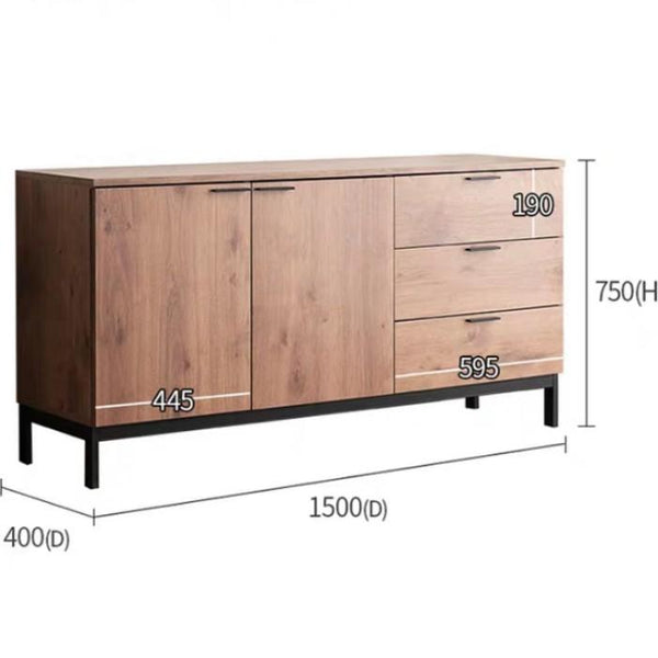 GABRIEL Industrial Solid Oak Sideboard