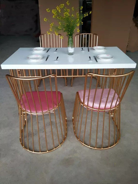 HERON Contemporary Golden Grills Dining Table