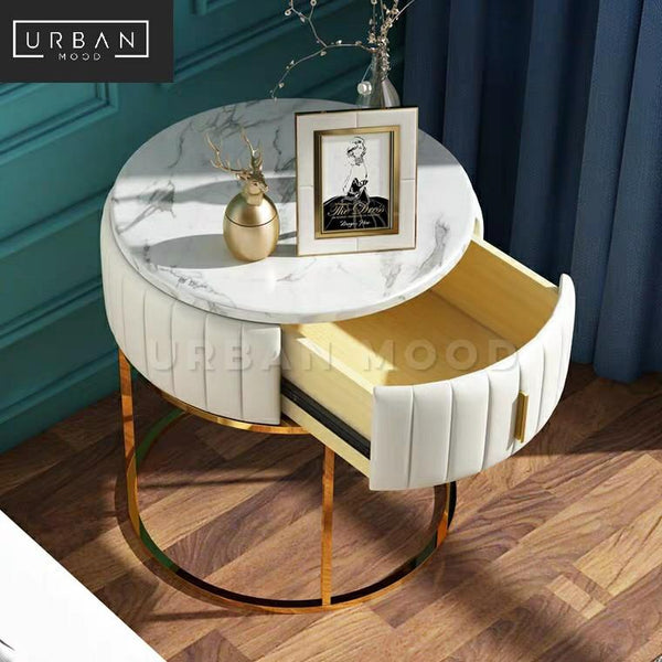 KALYN Modern Marble Bedside Table