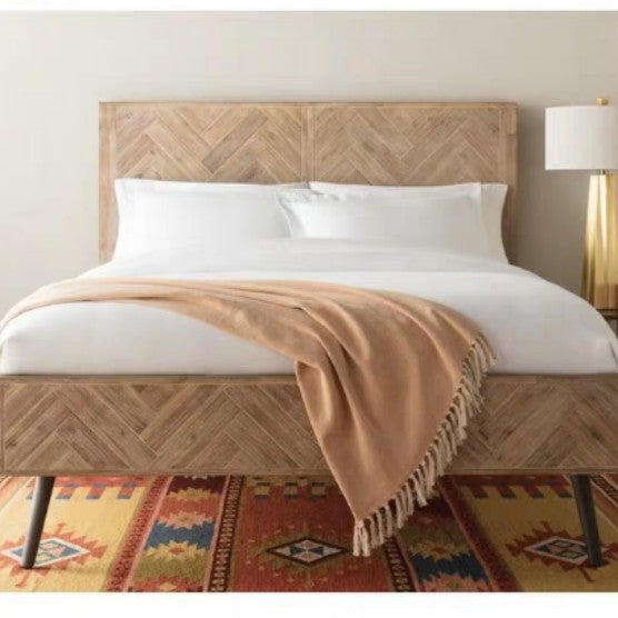 KINGSTON Acacia Wood Herringbone Bedframe