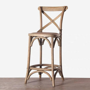KITH Rustic Solid Wood Bar Stool