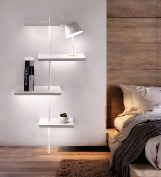 LUSTRE Floating Floor Lamp Shelf