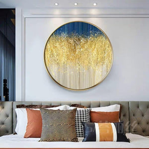 MARIN Gold Dust Round Wall Art
