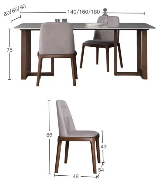 NOVAC Modern Marble Dining Table