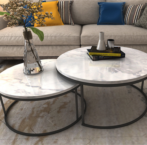 Mod Marble Round Coffee Table