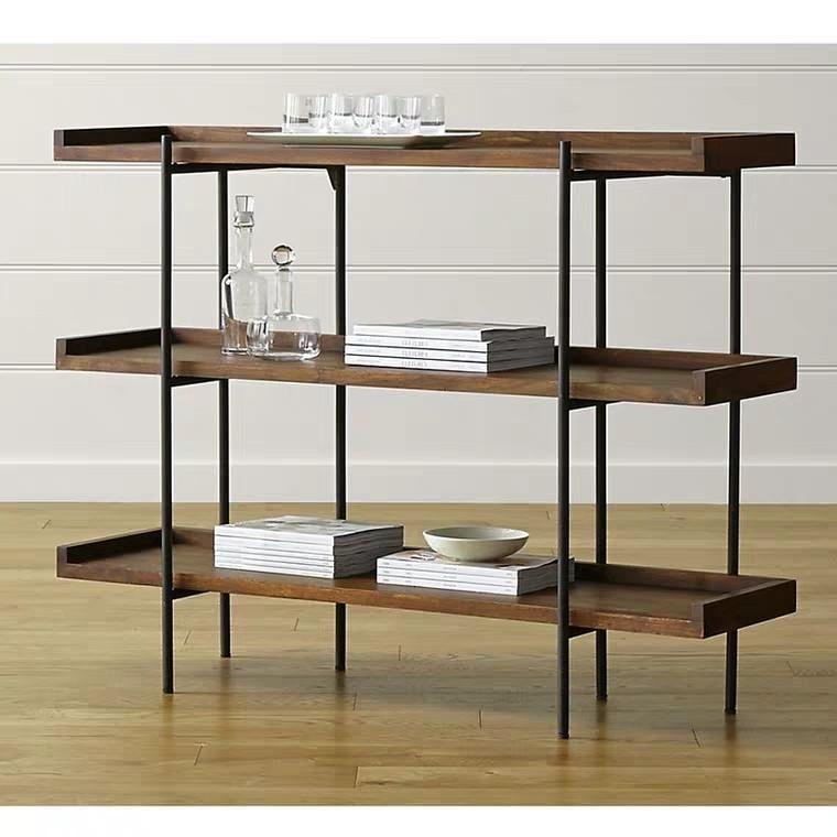 TORY Industrial Solid Wood Display Shelf