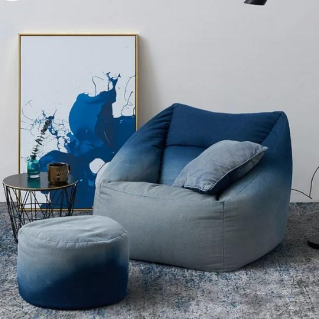 TUSCAN Ombre Denim Lazy Boy Armchair