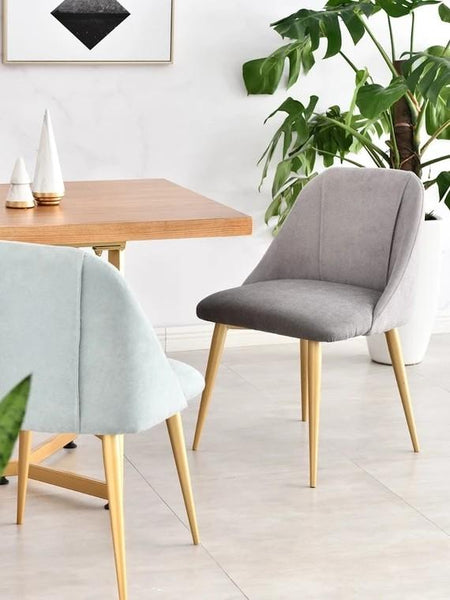 VELL Duo Tone Fabric Dining Chair