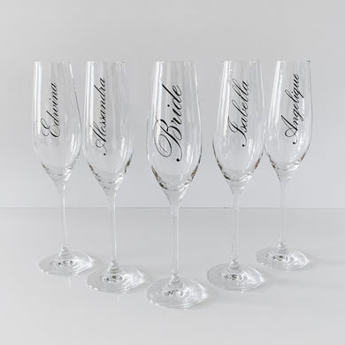 Champagne Flutes - Personalised