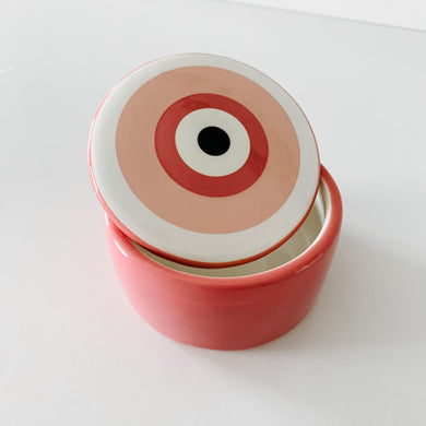 Ceramic 'Evil Eye' Trinket - Pink