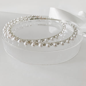 Pearl and Diamante Stefana Crowns - Orthodox Wedding Crowns