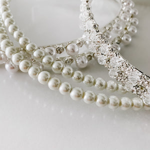 Pearl Stefana Crowns - Orthodox Wedding Crowns
