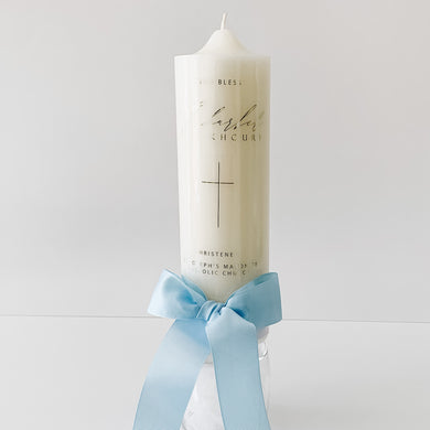 Personalised Baptism Christening Candle