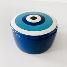 Load image into Gallery viewer, Ceramic 'Evil Eye' Trinket - Blue