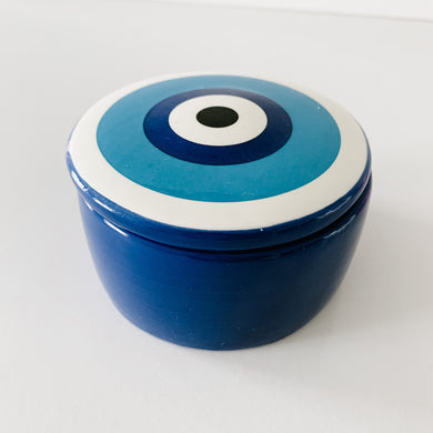 Ceramic 'Evil Eye' Trinket - Blue