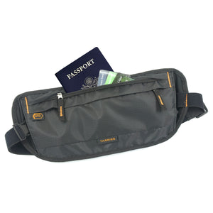 RFID Money Belt & Hidden Travel / Passport Wallet Protects Your Chip Enabled Passport and Credit Cards