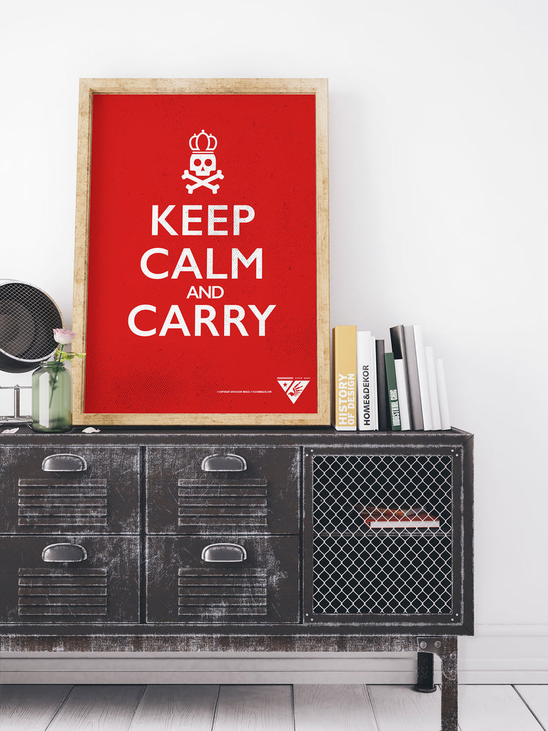 "18""x24"" Keep Calm and Carry Poster"