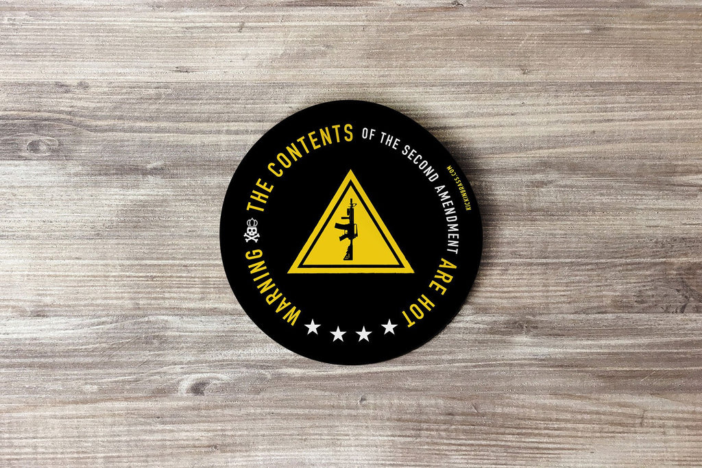 Warning 3x3 Sticker