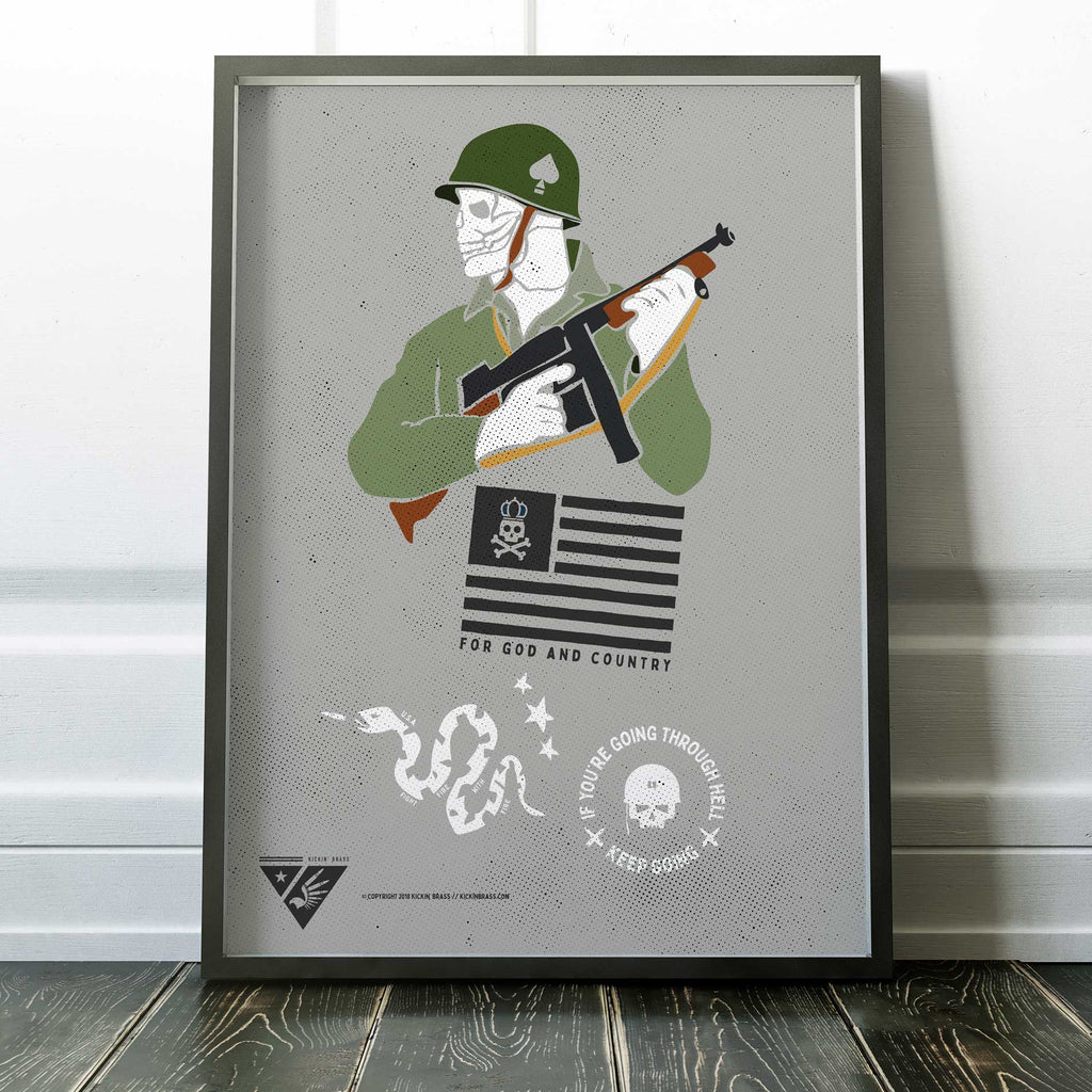 "18""x24"" Tribute To Veterans Poster"