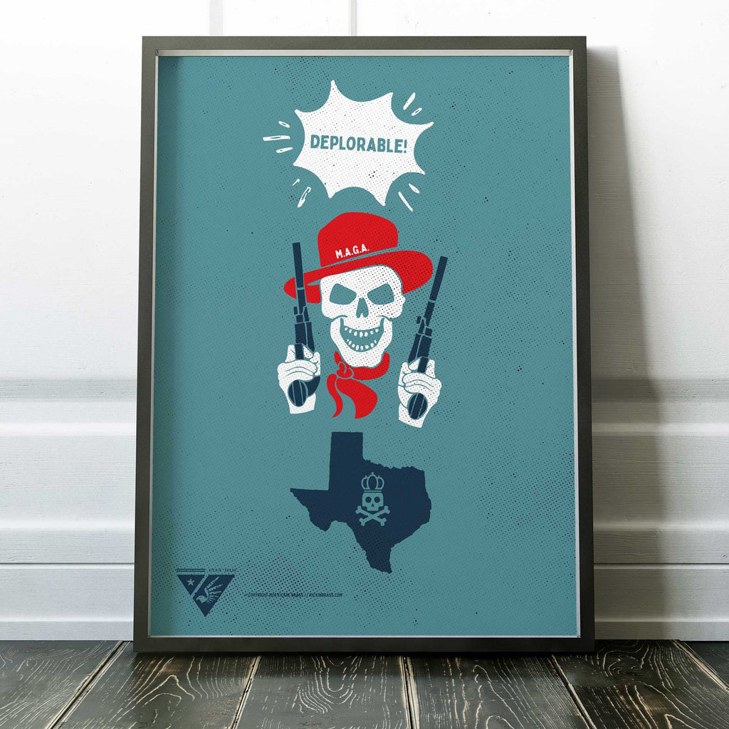 "18""x24"" Texas Deplorable Poster"