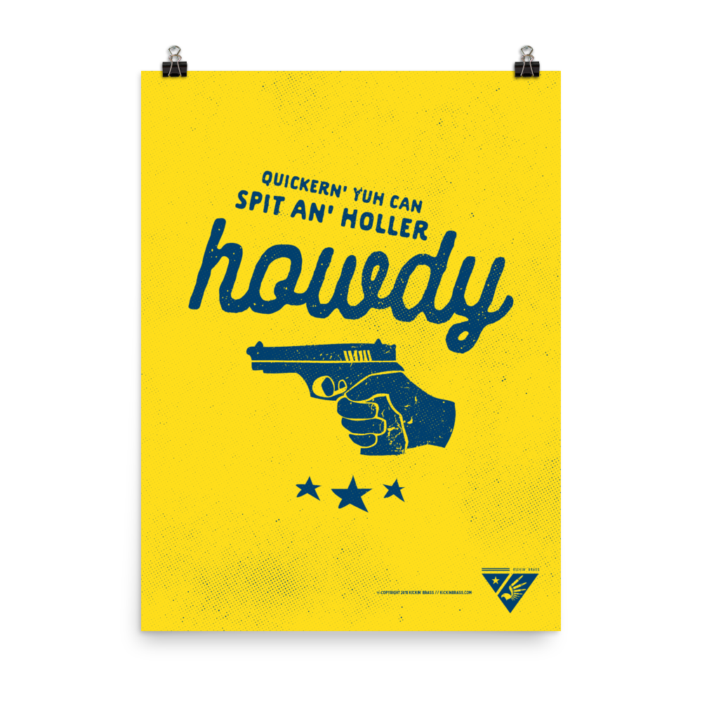 "18""x24"" Howdy Poster"