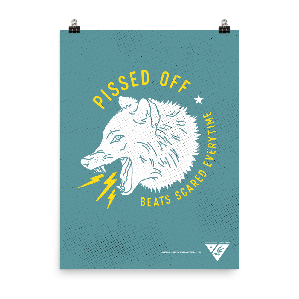 "18""x24"" Pissed Off Poster"