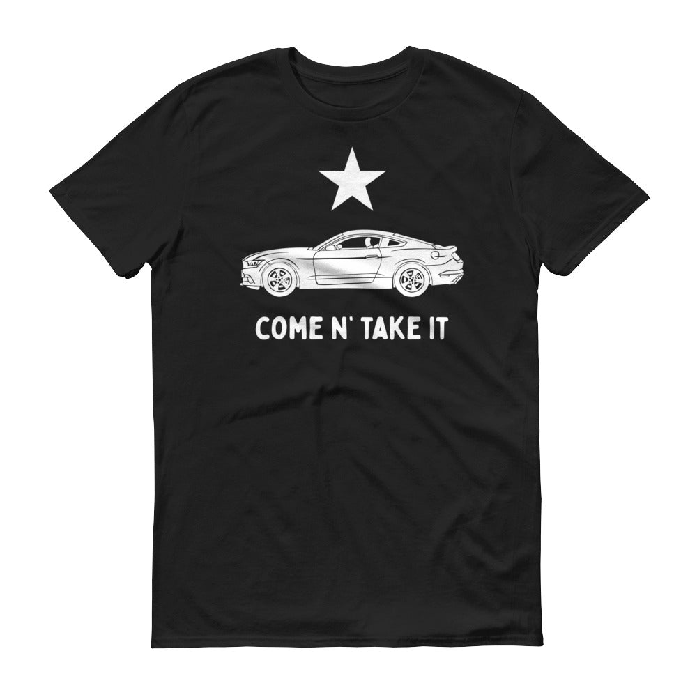 Gonzales Flag Mustang Short-Sleeve T-Shirt