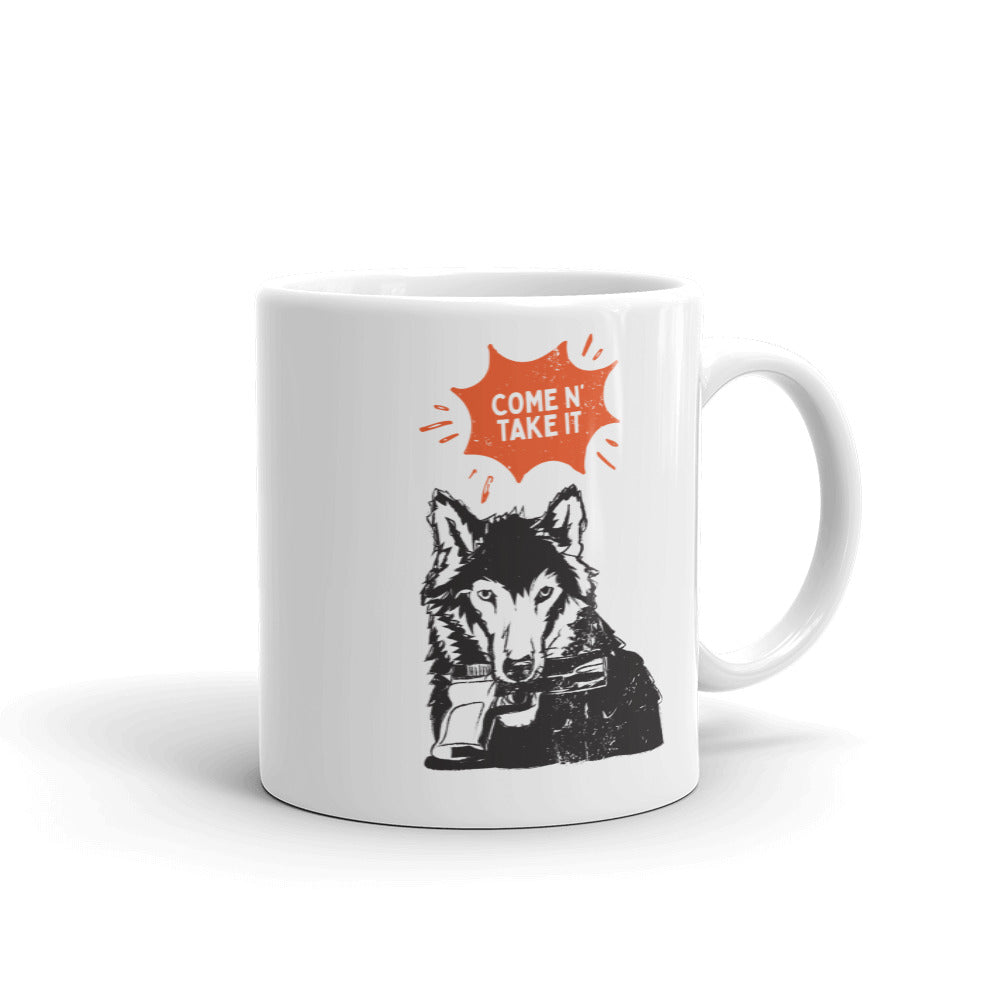 Come N' Take It - Wolf Coffee Mug
