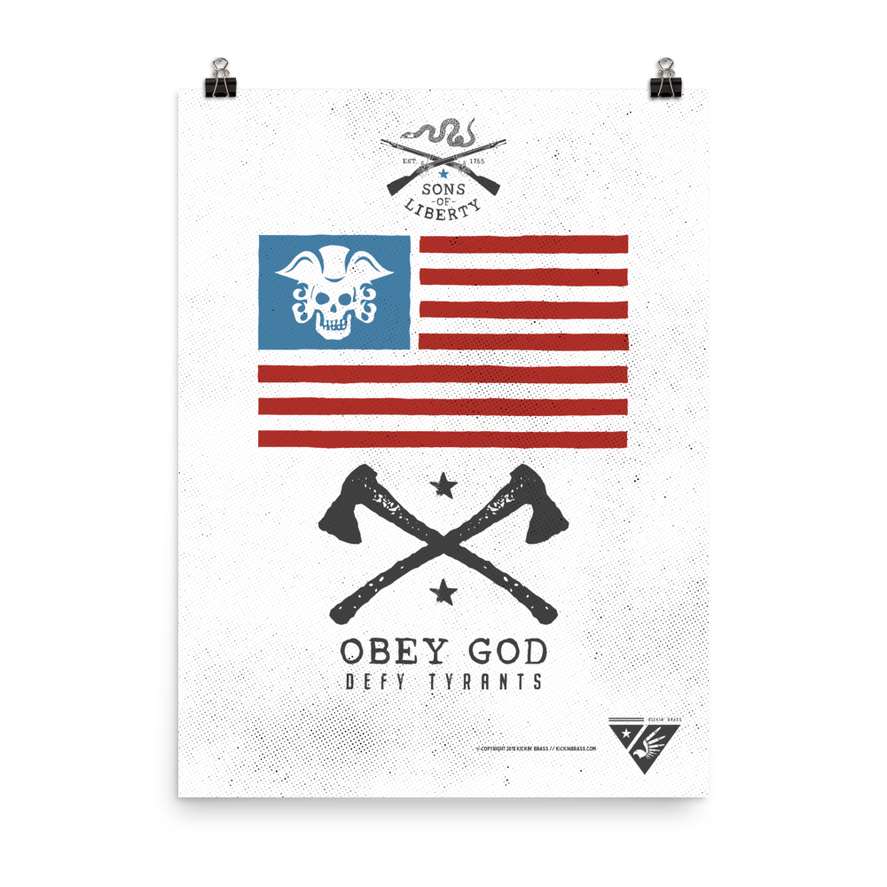 "18""x24"" Obey God Poster"