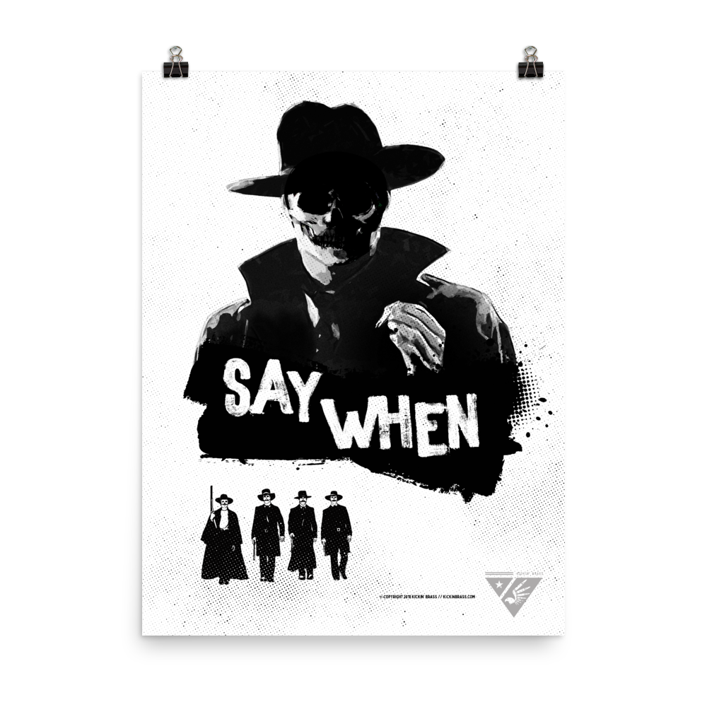 "18""x24"" Doc Holliday Poster"