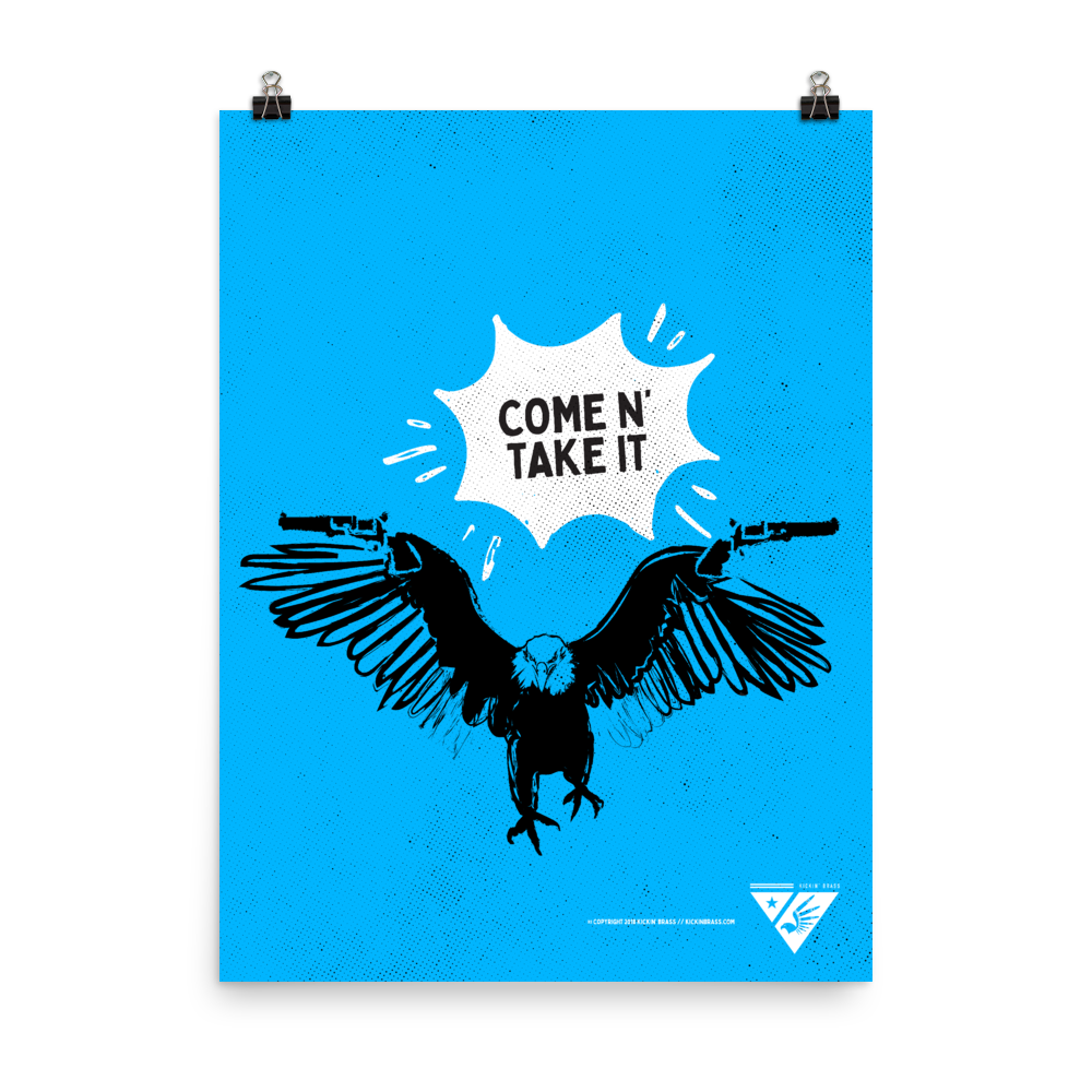 "18""x24"" Armed Eagle Poster"