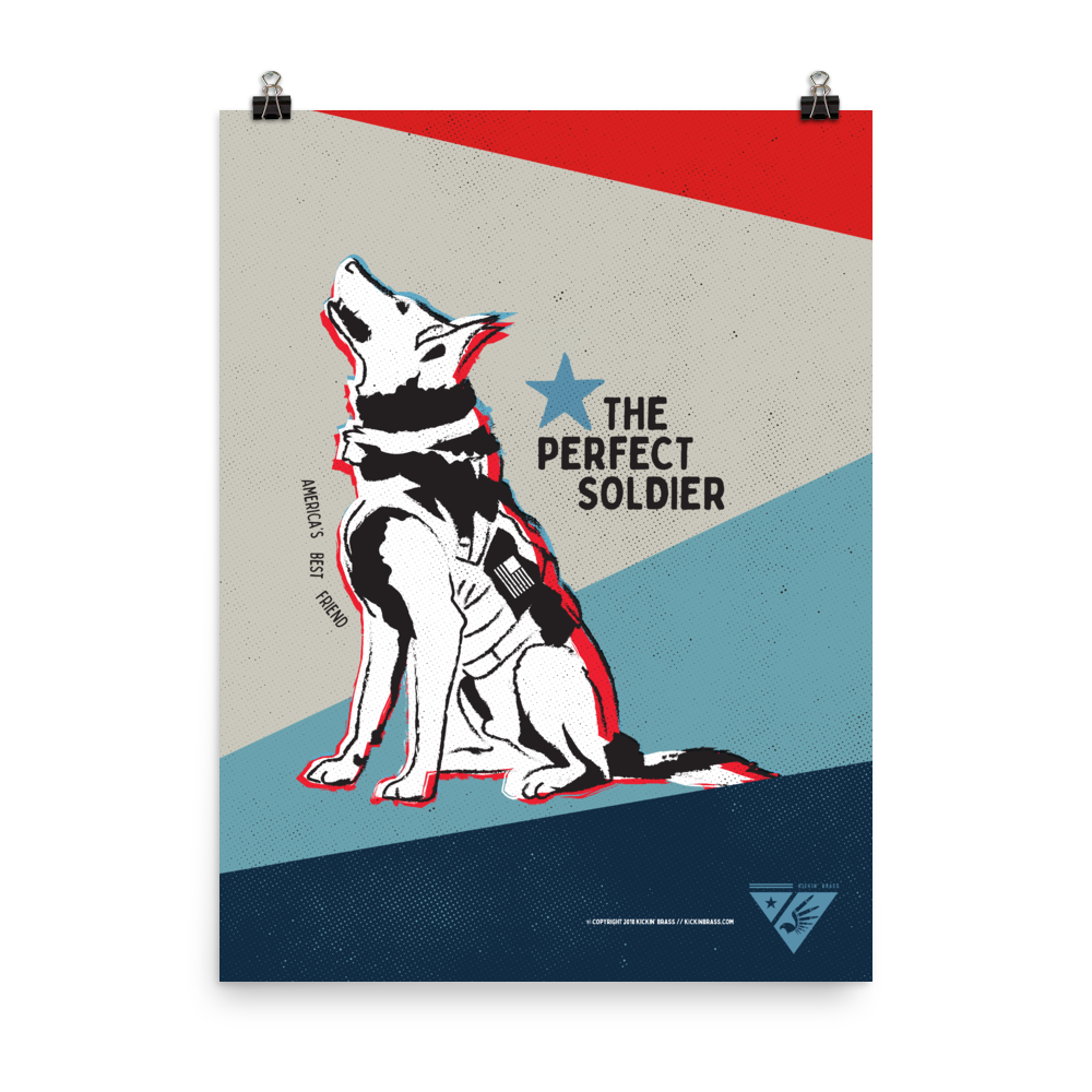 "18""x24"" Military Dog Poster"