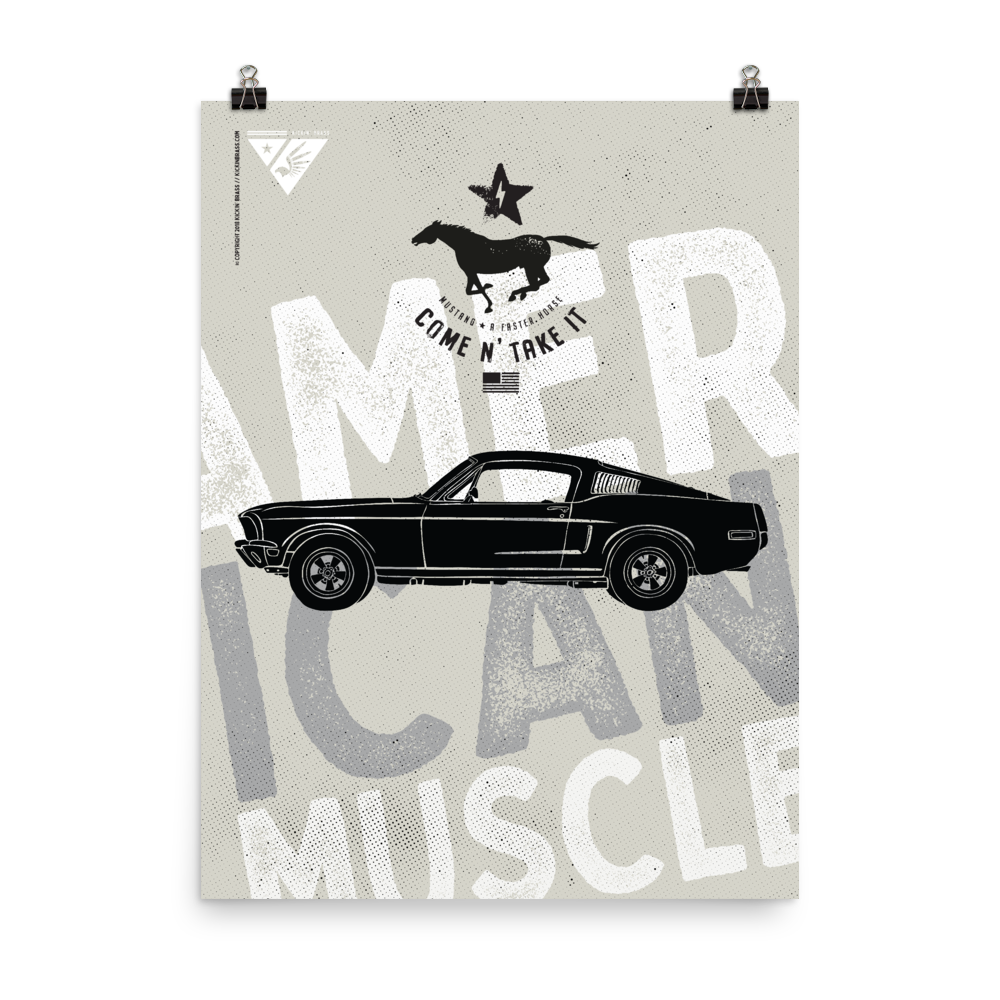 "18""x24"" Classic Mustang Poster"