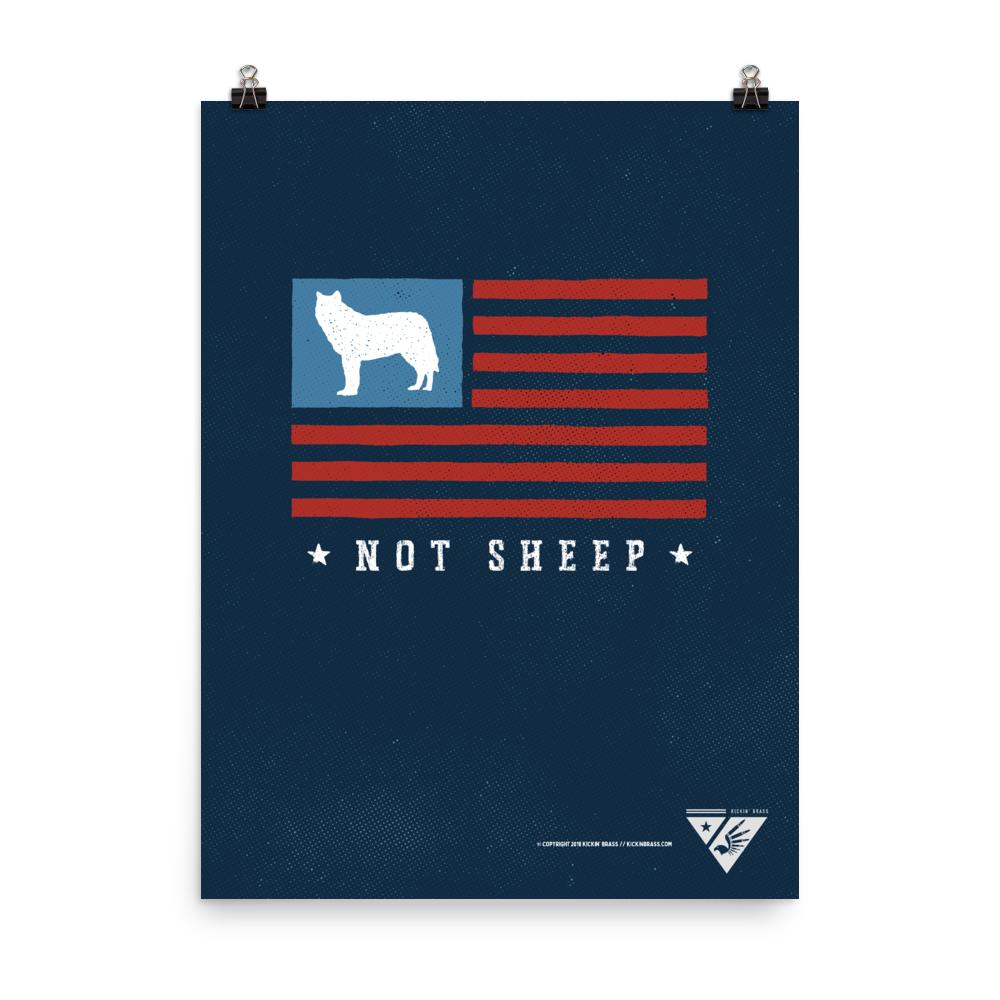 "18""x24"" Wolf Flag Poster"