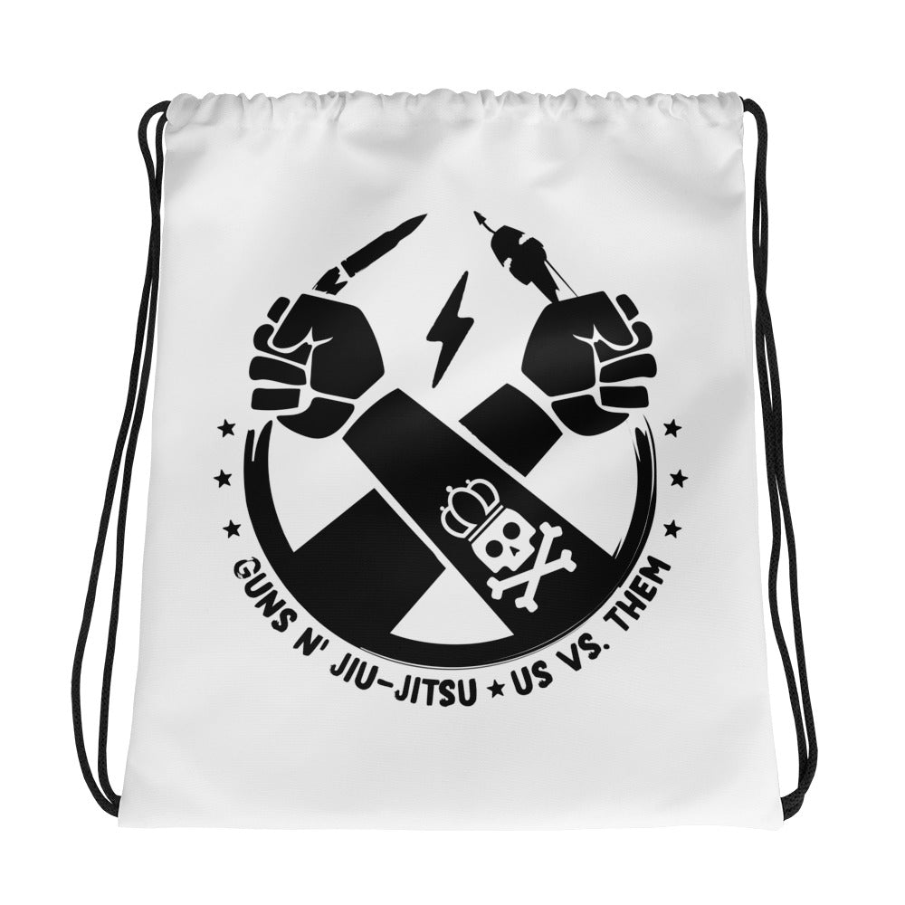 Guns N' Jiu-Jitsu Drawstring bag