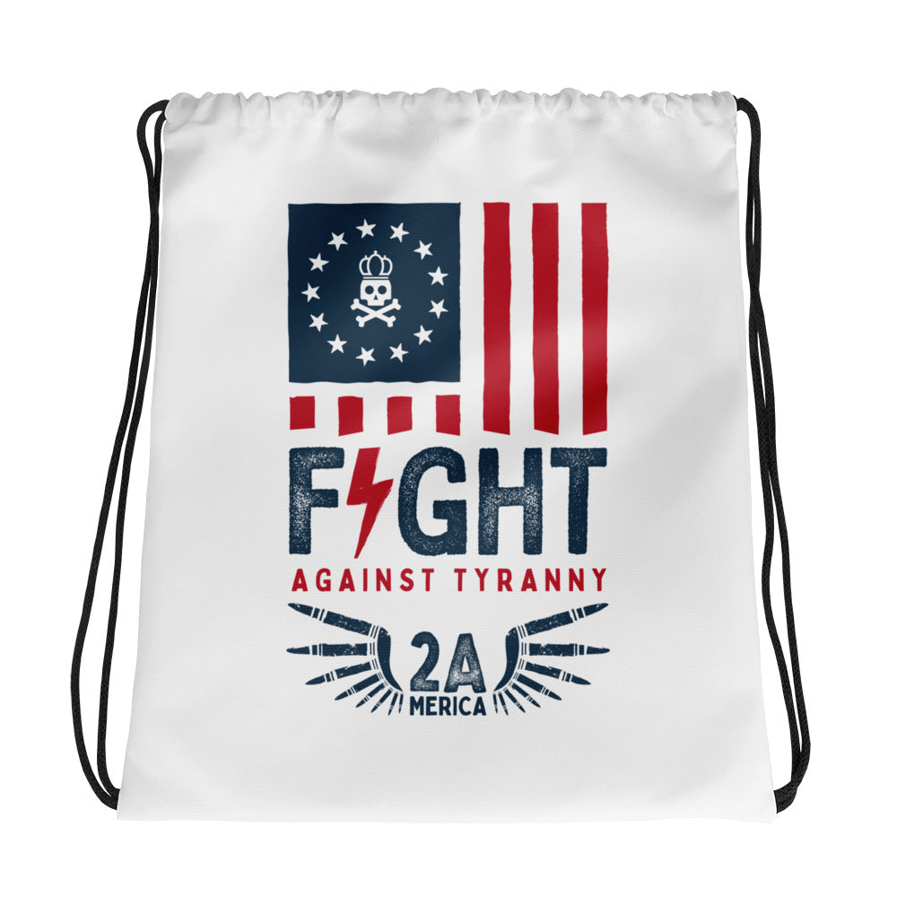 Fight Against Tyranny Drawstring bag