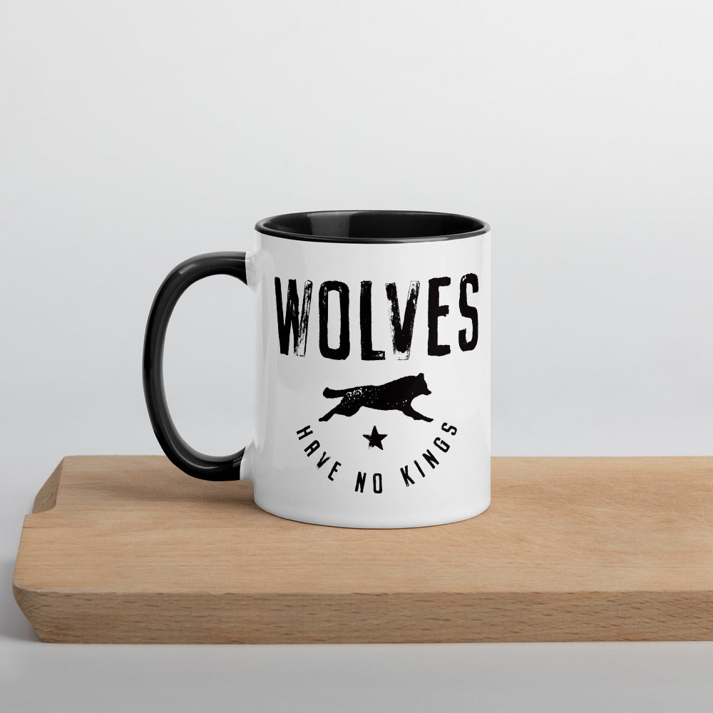 Wolves Mug with Color Inside