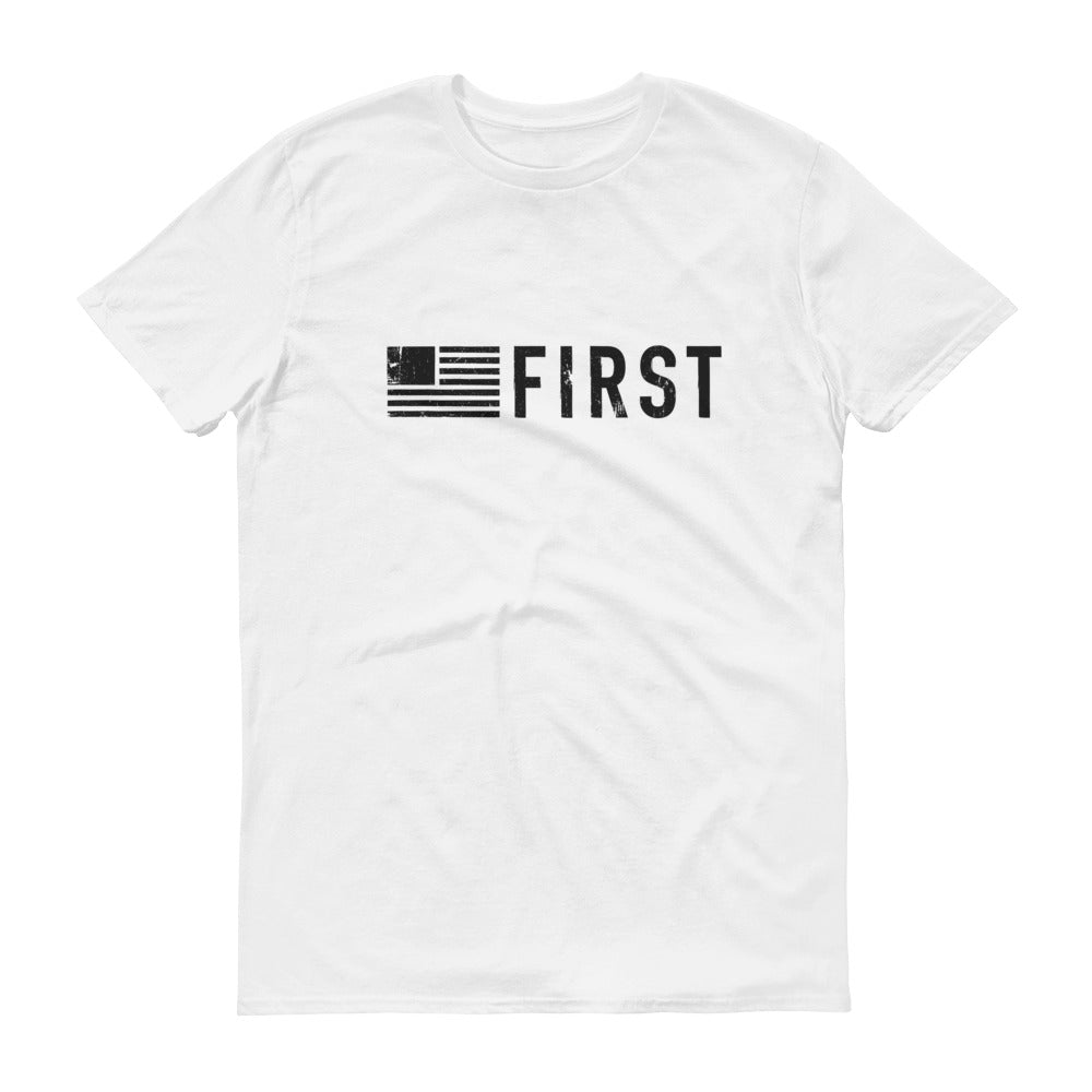 America First Battle Scarred Short-Sleeve T-Shirt