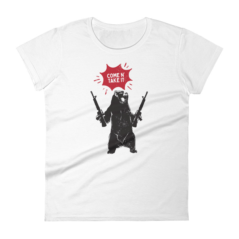 Come N' Take It - Bear - Women's Short Sleeve T-Shirt