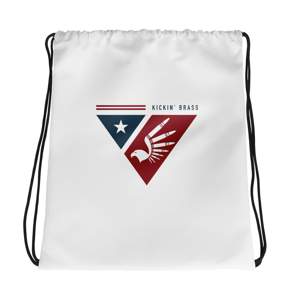 Kickin' Brass Shield Logo Drawstring bag
