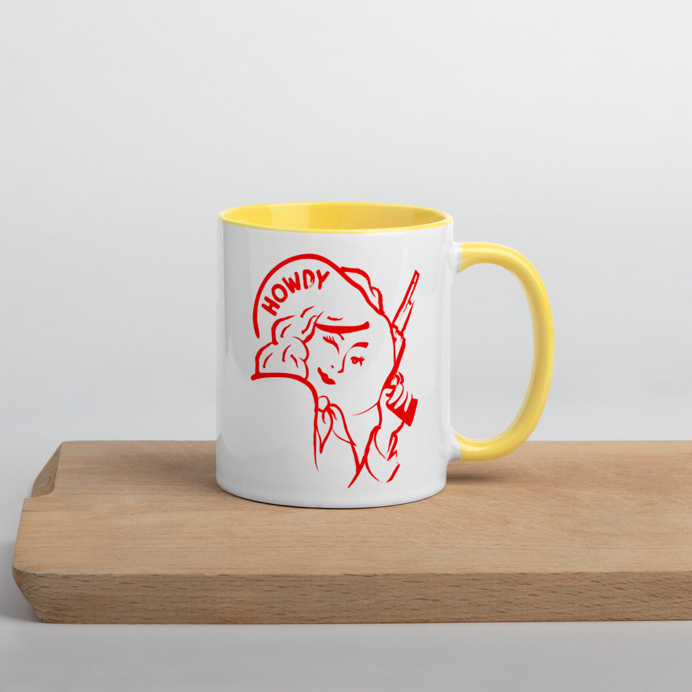 Cowgirl Mug with Color Inside