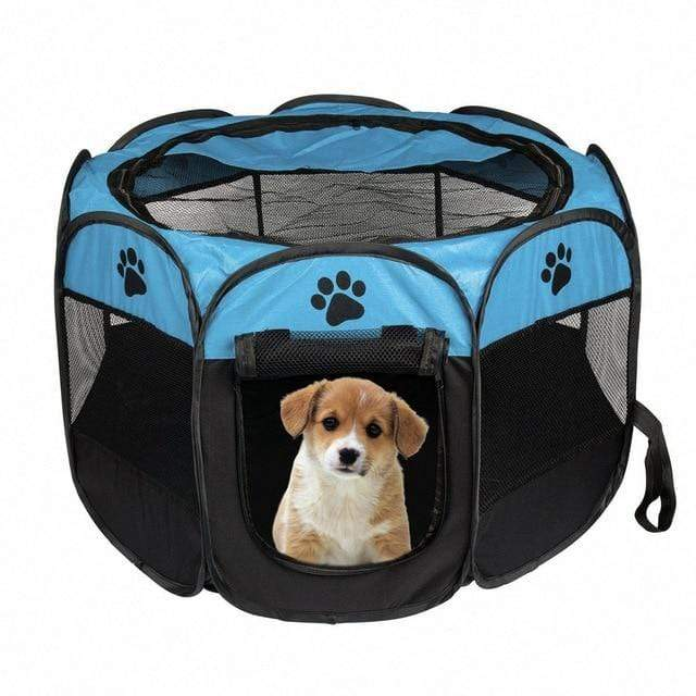 Mighty Shopping Blue / M Portable Folding Pet Tent House