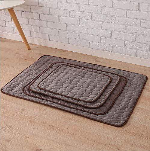 Mighty Shopping brown / L    55cm X 70cm Pet Soft Cooling Mats, Easy to Clean