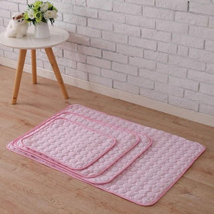 Mighty Shopping pink / L    55cm X 70cm Pet Soft Cooling Mats, Easy to Clean