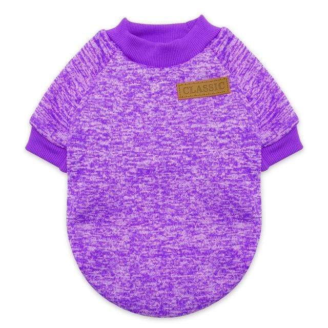 Mighty Shopping Purple / L Pet Winter Warm Clothes