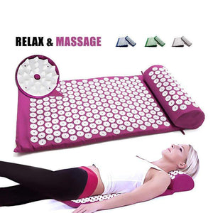 Mighty Shopping Store Mat Acupressure Super Acupressure Mat (SAM) Massager Mat With Pillow & Case